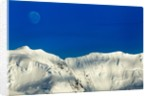 Moon and Mountain Peaks, Antarctica by Corbis