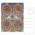 Tibetan thangka with four mandalas by Corbis