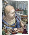 Rabelais, Francois (c. 1494-1553). French writer. Gargantua. The pilgrims are eaten in salads by Corbis