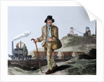 English miner and transport of coal mined by Corbis