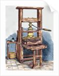 Printing press used by Benjamin Franklin (1706-1790) by Corbis