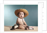 1960s Baby Wearing Cowboy Costume With Funny Facial Expression Looking At Camera by Corbis
