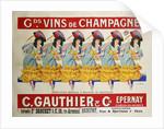 Gds Vins de Champagne poster by Casimir Brau
