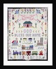 A pieced and appliqued pictorial cotton quilted coverlet depicting Clifton, Ohio by Corbis