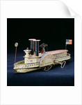 A rare Electra American clock-work, tinplate paddlewheel river boat, circa 1860's by Corbis