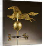 A gilded sheet iron weathervane in the form of a galloping horse by Corbis