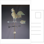 Fine feathered rooster and arrow weathervane by Corbis