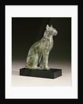 An Egyptian bronze figure of a cat by Corbis