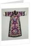 A purple ground Silk embroidered lady's informal robe by Corbis
