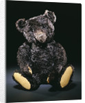 A rare black Steiff teddy bear with rich black curly mohair, circa 1912 by Corbis