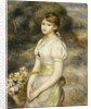 Young Girl Carrying a Basket of Flowers by Pierre-Auguste Renoir