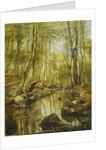 A Wooded River Landscape by Peder Monsted