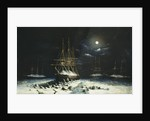 The British Naval Franklin Search Expedition: H.M.S Resolute, Assistance, Intrepid and Pioneer wintering in the Arctic, 1850-51 by Corbis