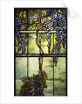Detail of Tiffany Studios leaded glass triptych window (Wisteria) by Corbis