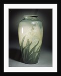 An earthenware vase depicting hyacinths and leafage in shades of ivory and green by Corbis