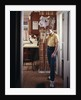 1970s Teenage Boy Talking On Kitchen Wall Phone Telephone by Corbis