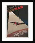 Farman Airways Poster, Vintage Plane by Corbis
