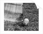 1960s Moving Driver Golf Club Hitting Ball On Tee In Grass by Corbis