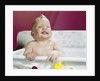1960s Laughing Wet Baby In Bath by Corbis
