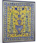 A Qajar cuerda seca tile panel comprising twenty tiles by Corbis