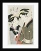 A double half-length portrait of Moto, a maidservant of the Yoshidaya, and the Geisha Mizue by Eishosai Choki