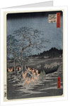 New Year's Eve foxfires at the Nettle Tree, Oji by Ando Hiroshige from the series 'One Hundred Views of Famous Places in Edo' by Corbis