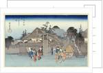 Willow at the Exit of Shimabara by Ando Hiroshige from the series 'Famous Places of Kyoto' by Corbis
