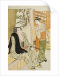 A scene in a teahouse of the wrestler Onogawa conversing with the waitress attributed to Katsukawa Shun'ei by Corbis