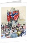 Fridtjof Nansen (1861-1930). Norwegian scientist. Banquet in his honour at Britannia hotel in Trondh by Corbis
