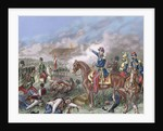 Napoleon III in the Battle of Solferino (1859). Colored engraving by Corbis