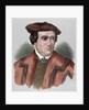 Martin Luther (1483-1546). Colored engraving by Corbis