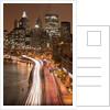 Brooklyn Bridge and Manhattan Skyline, New York City by Corbis