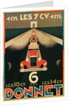 Advertisement for Donnet, French Automotive Pioneer by Corbis