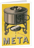 German Advertisement for Meta, Pot with Sterno Cube by Corbis