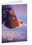 Mountain peak and glacier in Lemaire Channel, Antarctica by Corbis