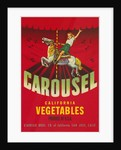 Carousel Vegetable Crate Label by Corbis