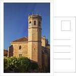 Clock tower of the San Mateo Church in Banos de la Encina, Spain by Corbis