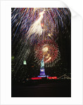 1980s Statue of Liberty fireworks NYC by Corbis