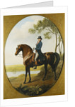Portrait of Warren Hastings, Small Full Length, on His Celebrated Arabian, Wearing a Blue Coat and Grey Breeches, in a Landscape by George Stubbs