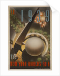 1939 New York World's Fair Poster, The World of Tomorrow, aerial by Corbis