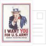 Vintage Army Recruiting Poster by Corbis