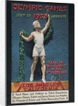 1932 Los Angeles Olympic Poster, Athlete with laurels by Corbis