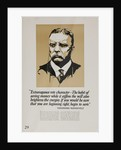 1920s American Banking Poster, Extravagence rots character. Teddy Roosevelt by Corbis