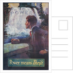 1920s American Banking Poster, Power Means Thrift by Corbis