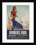 1939 New York World's Fair Poster, For Your Summer Vacation by Corbis