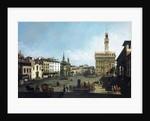The Piazza della Signoria and Palazzo Vecchio in Florence by Bernardo Bellotto