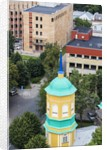 View of the bell-tower of the Orthodox church from the Latvian Academy of Science building by Corbis