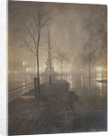 A Wet Night, Columbus Circle, New York by William A. Fraser
