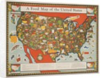A Food Map of the United States by Corbis