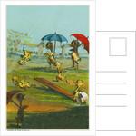 Ducklings in the Rain by Corbis